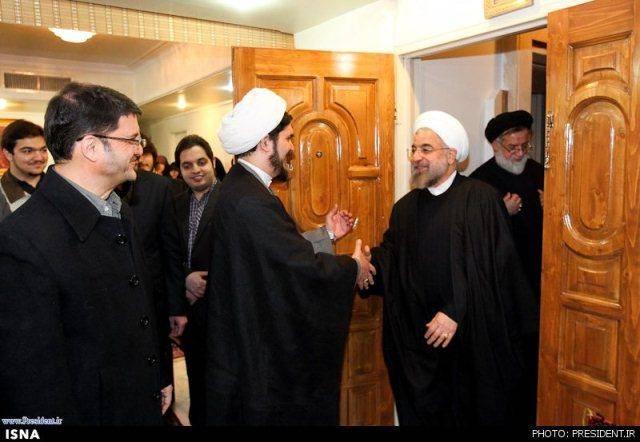 دیدار رییسجمهور روحانی با خانواده شهید مفتح (عکس)