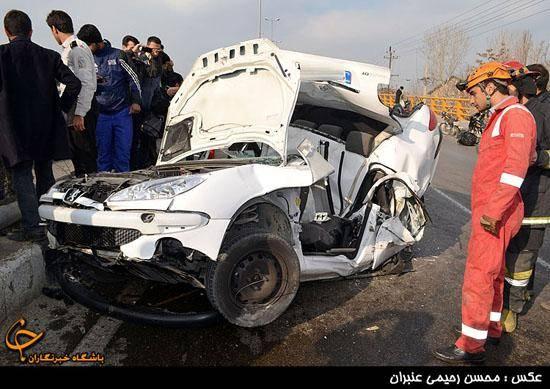 راننده این خودرو زنده ماند!/تصاویر