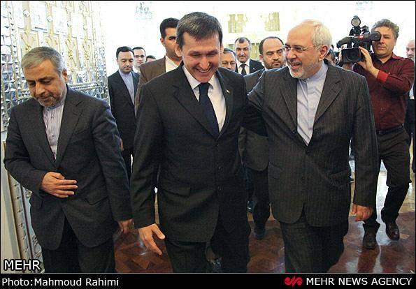 دیدار ظریف و وزیر خارجه ترکمنستان (عکس)