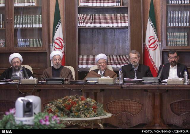 جلسه مجمع تشخیص مصلحت نظام با حضور سران قوا (عکس)