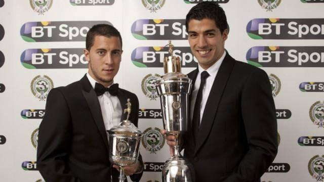 سوارز برنده جایزه بهترین بازیکن سال اتحادیه حرفهای بازیکنان فوتبال انگلستان شد