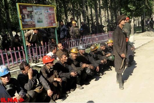 کارگران البرز شرقی برای سومین بار تجمع کردند + عکس