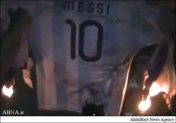 پیراهن مسی به آتش کشیده شد/عکس