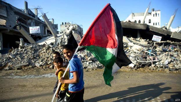 آرامش در غزه پس از پنجاه روز