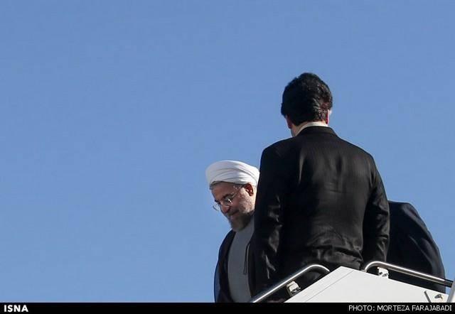 ورود روحانی به نیویورک (عکس)