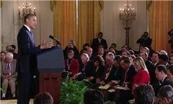 اولین نشست خبری اوباما پس از شکست در سنا