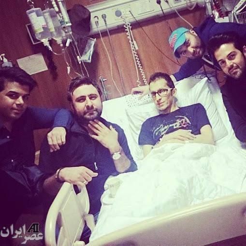 تی شرت محرمی پاشایی در بیمارستان (عکس)