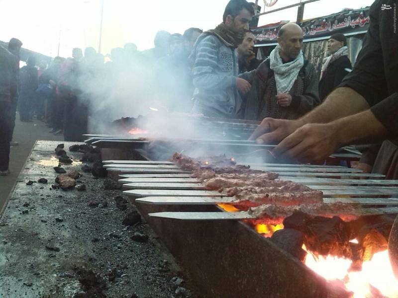 عکس/ سنگ تمام عراقیها برای زائران
