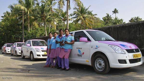 هند: تاکسی زنان راه مقابله با تجاوز (+عکس)