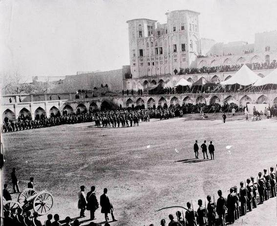 عکس/میدان رژه (طهران) دوره قاجار
