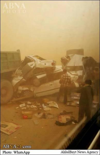 تصادف شدید رانندگی در اهواز/تصاویر