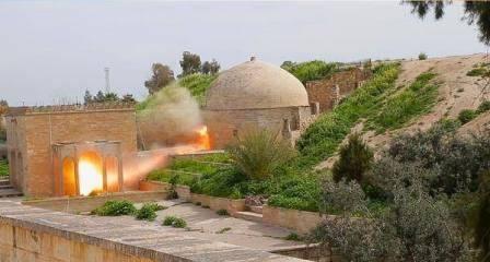 تخریب کلیسای قدیمی در عراق/تصاویر