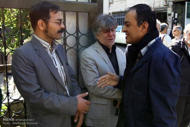 تشییع پیکر زنده یاد حسین قندی/تصاویر