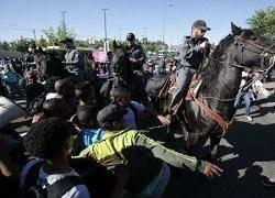 یورش پلیس رژیم صهیونیستی به تظاهرات ضد خشونت یهودیان در تل اویو