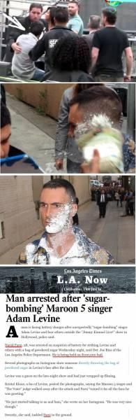 جوان ایرانی-آمریکایی با یک پاکت شکر به خواننده معروف آمریکایی حمله کرد!
