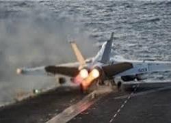 سقوط جت جنگنده امریکا در خلیج فارس