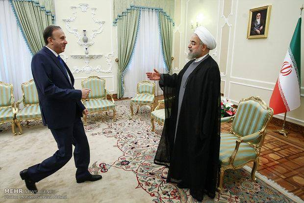 دیدار رئیس مجلس سوریه با روحانی/تصاویر