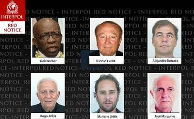 نام دو تن از مسئولان سابق فيفا در ليست قرمز اينترپل قرار گرفت