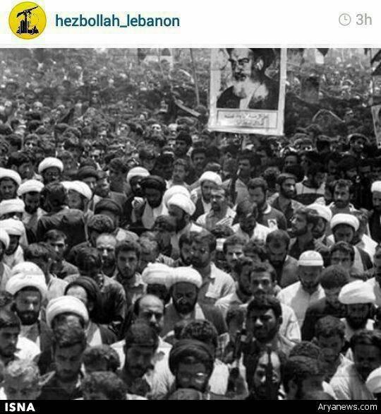 نصرالله در مراسم تشییع امام (ره)/عکس