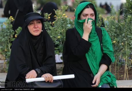 تشییع پیکر غواصان در تهران