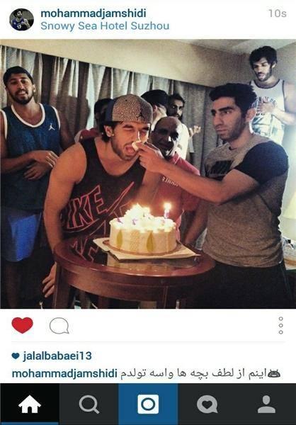 جشن تولد بازیکن ایرانی در چین+عکس