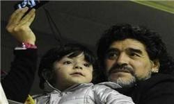 نوه مارادونا راه پدربزرگش را میرود؟+عکس