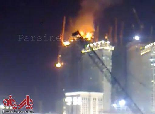 عکس: آتش سوزی در بازار مکه