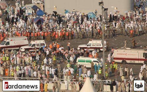 """۱۲۲ ایرانی کشته شدند+لیست اسامی/ایران: کشته ها ۱۰۰۰ و زخمی ها ۱۵۰۰ نفر سعودی ها: کشته ها ۷۱۷ نفر بوده/ """"محمدبن سلمان""""عامل فاجعه منا بود + گزارش تصویری و فیلم"""