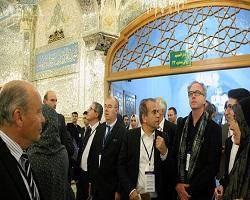 سفیر فرانسه در حرم امام رضا(ع) + تصویر