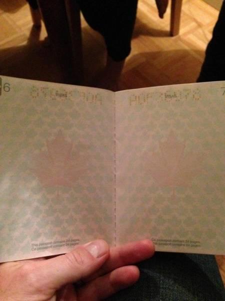 تصاویر جالب از گذرنامه کانادایی