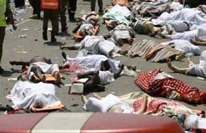 شمار جان باختگان ایرانی حادثه منا به ۱۶۹ نفر رسید، ۲۹۸ نفر همچنان مفقود