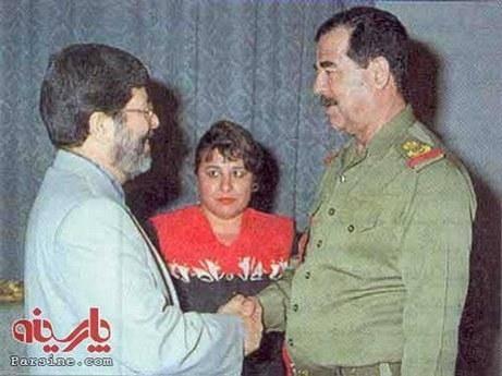 تفاوت دست دادن ظریف با اوباما و مرندی با صدام (+ تصویر)
