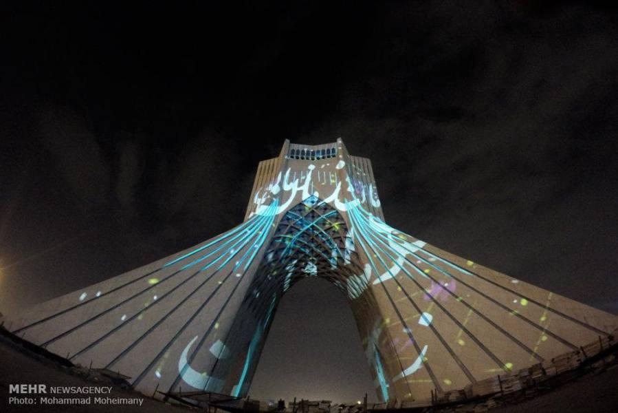 عکس/ کنسرت نور در برج آزادی