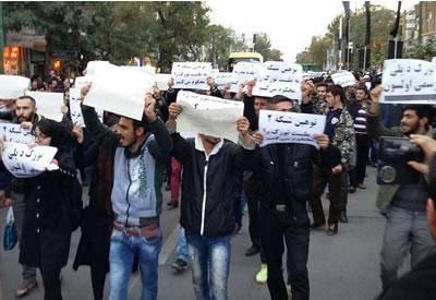 """""""دو زخمی و چند بازداشت"""" در درگیری تجمع اعتراضی تبریز"""