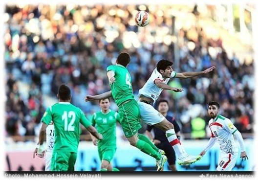 ایران ۳ - ترکمنستان ۱؛ صعود به صدر جدول
