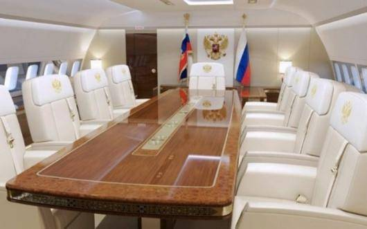 تصاویری از داخل هواپیمای اختصاصی ولادیمیر پوتین