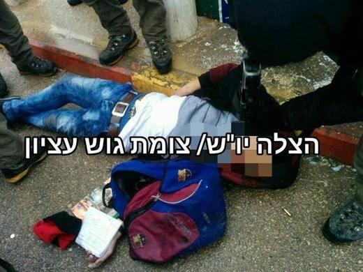 شهادت یک فلسطینی به خاطر کیف مدرسه+عکس