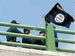 واقعیت نصب پرچم داعش در کرمانشاه چه بود؟+تصاویر