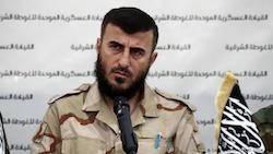 رهبر جیش الاسلام در حمله هواپیماهای روسی به سوریه کشته شد