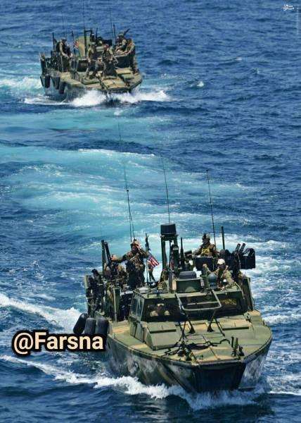 عکس: نمونه شناور توقیف شده آمریکا توسط سپاه