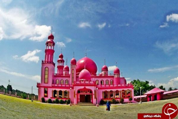تنها مسجد صورتی رنگ دنیا +عکس