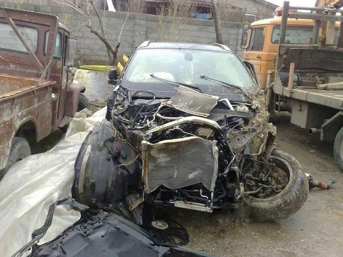 عکس: تصادف شدید BMW X6 در ایران
