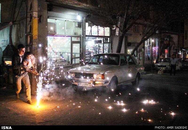 عکس/ چهارشنبه آخر سال ۹۴ - تبریز