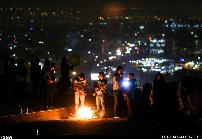 عکس/ چهار شنبه سوری  تهران