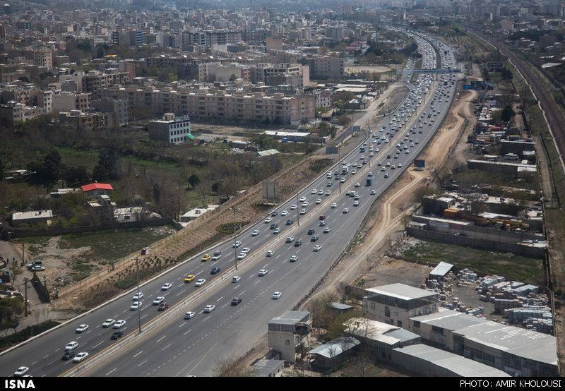 عکس/ تصاویر هوایی از وضعیت امروز جاده ها