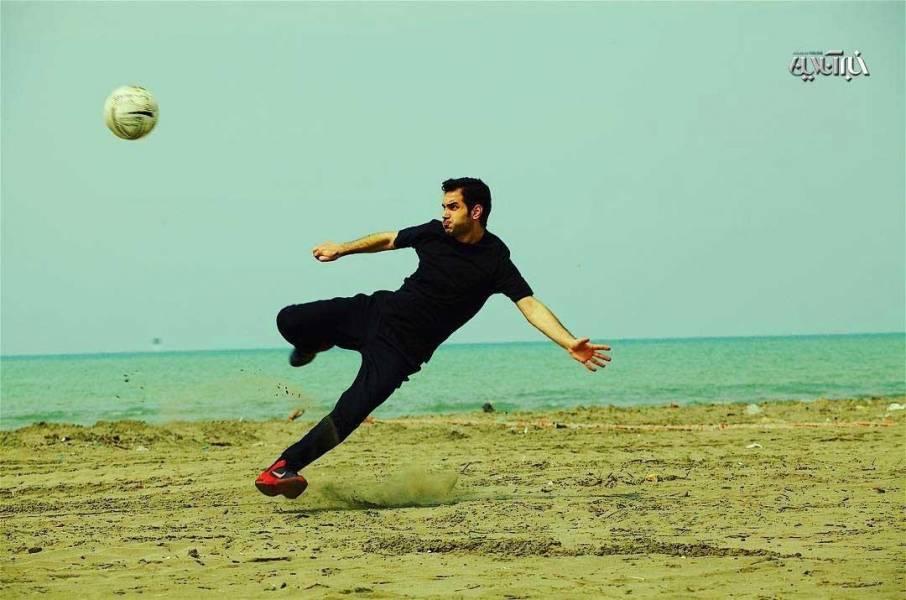 وقتی محسن یگانه یاد کارتون «فوتبالیستها» میافتد +عکس