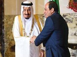 عالیترین نشان مصر دور گردن ملک سلمان