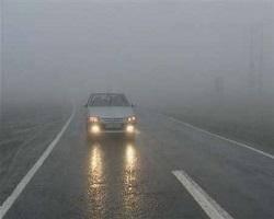 مه غليظ و کند شدن تردد خودروها در محورهاي خراسان شمالي