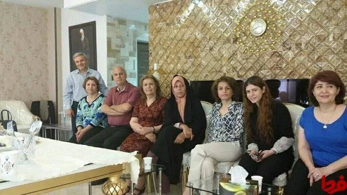 فائزه هاشمی به دیدار عضو ارشد بهائیان رفت +عکس