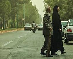 گرد و خاک در راه تهران